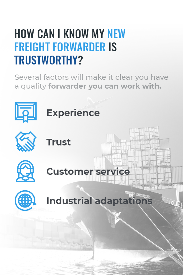 list of trustworthy qualities for a freight forwarder