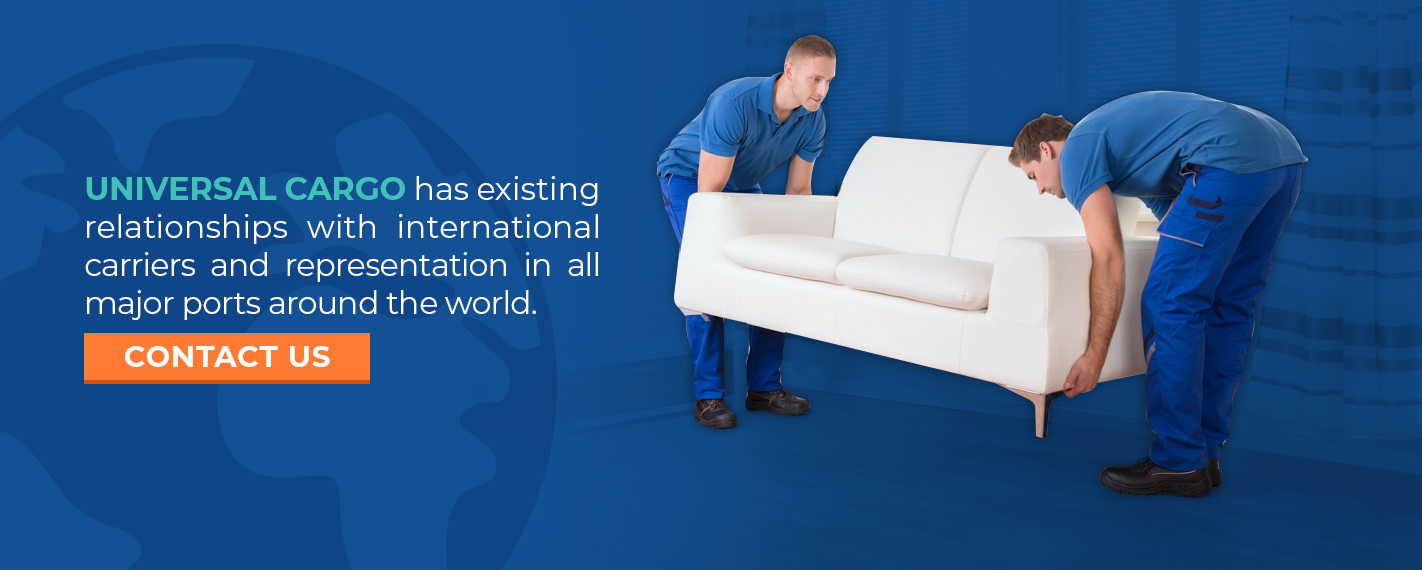 contact universal cargo for business furniture importing or exporting