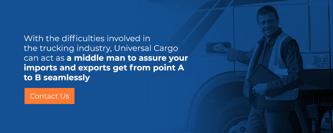 contact universal cargo for trucking freight