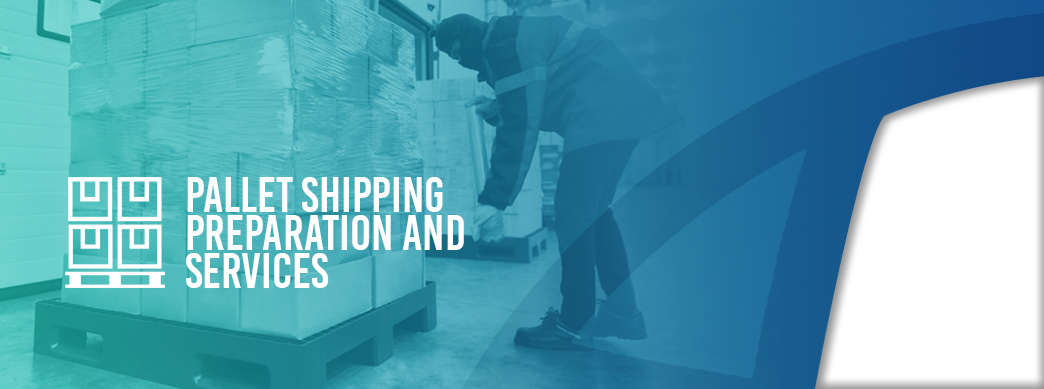 pallet shipping preparation and services informational graphic