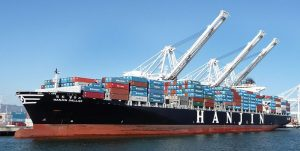 Hanjin Container Ship Photo by: Flickr user Ingrid Taylar
