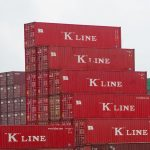 K Line shipping containers