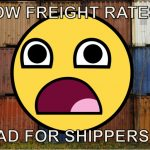 Are low freight rates actually bad for shippers
