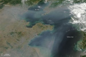 NASA Image of Pollution Haze Over China