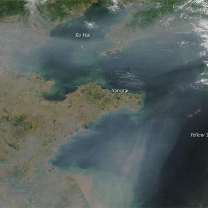 NASA Image of Pollution Haze Over China