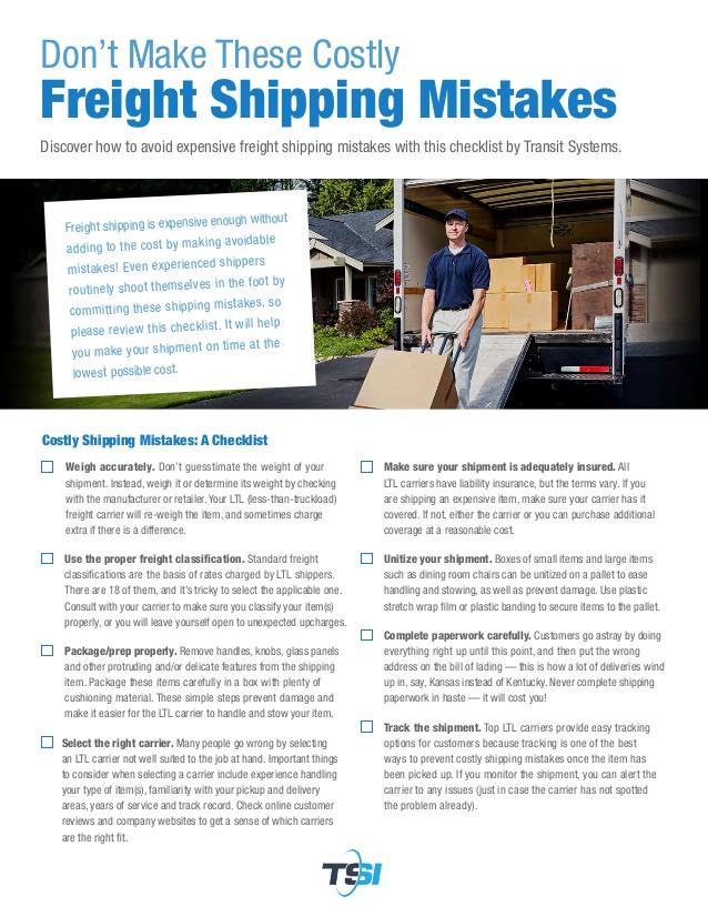 TSI Shipping Guide