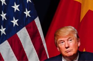 President-elect Trump w/ US & Chinese flags