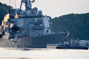 USS Fitzgerald struck by NYK containership