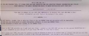 CMA CGM ransom letter