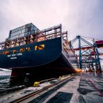 container ship at dock