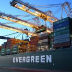 Evergreen Containership at Port of Baltimore