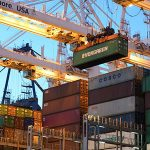 international shipping port cranes & containers