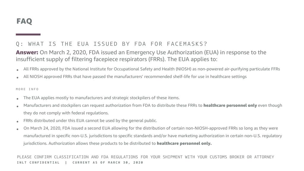 INLT Pandemic Supplies Webinar FAQ
