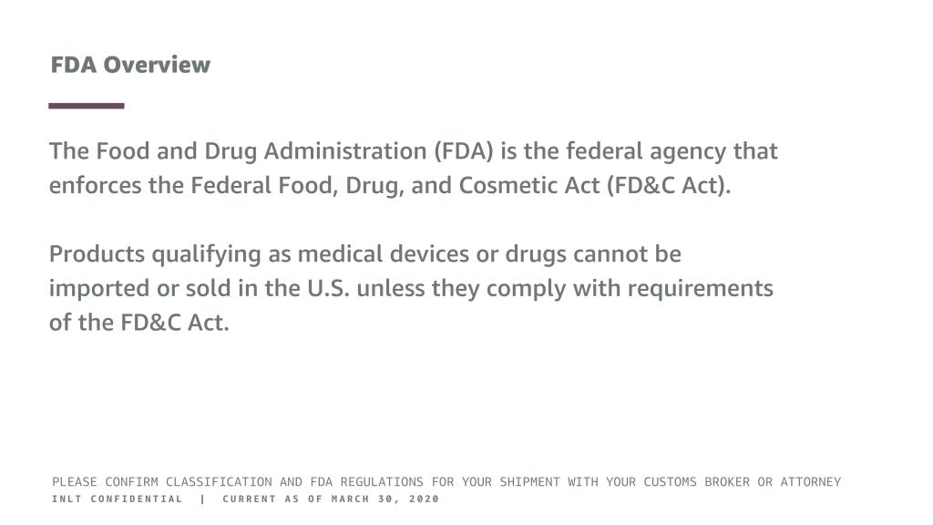 INLT Pandemic Supplies Webinar FDA Overview