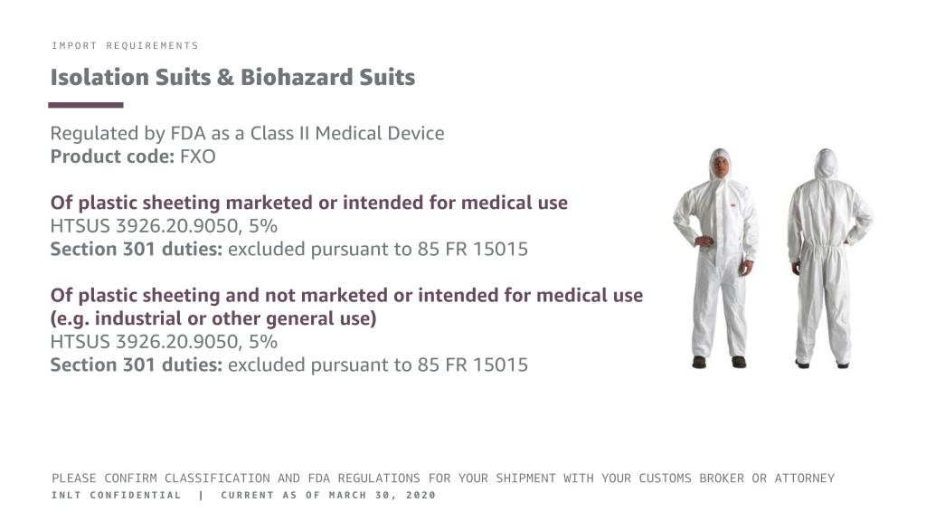 INLT Pandemic Supplies Webinar Isolation Suits & Biohazard Suits