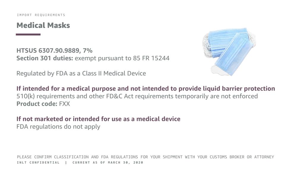 INLT Pandemic Supplies Webinar Medical Masks