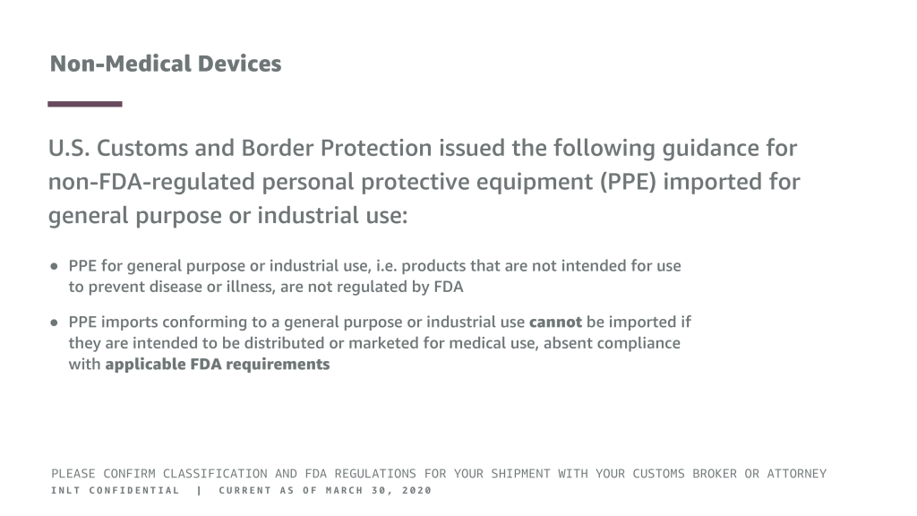 INLT Pandemic Supplies Webinar Non-Medical Devices