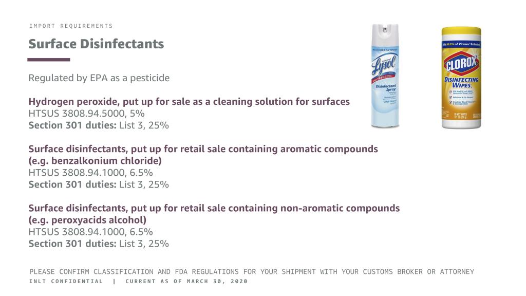 INLT Pandemic Supplies Webinar Surface Disinfectants