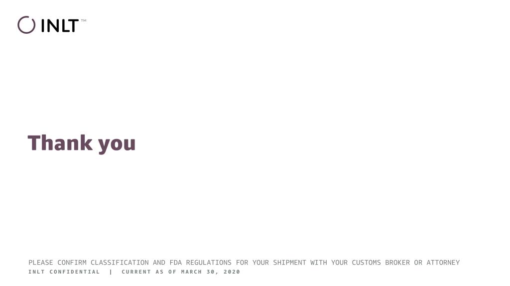 INLT Pandemic Supplies Webinar Thank You