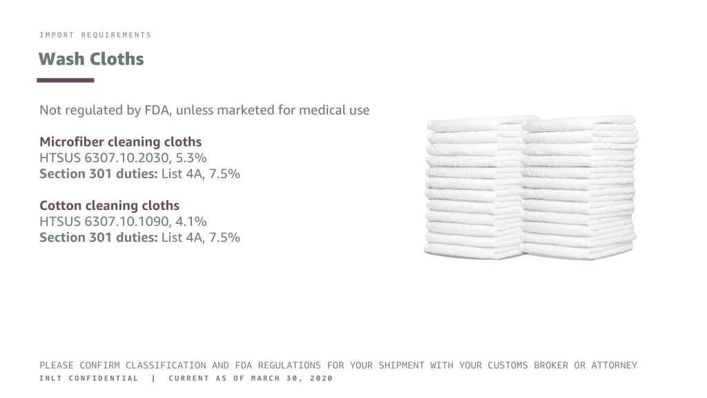 INLT Pandemic Supplies Webinar Wash Cloths