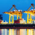 international shipping cargo ship port