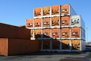 """refrigerated """"reefer"""" shipping containers"""