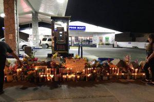 Candles, Flowers, & Notes from Gerardo Michael Juarez vigil
