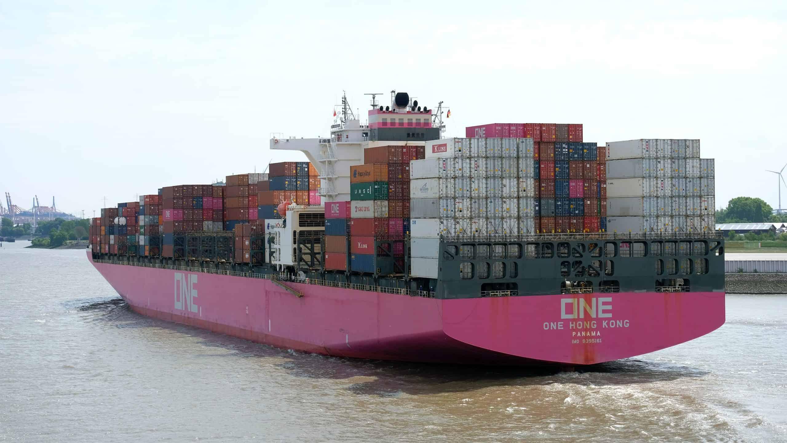 Ocean Network Express ONE cargo ship