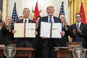 Phase One Trade Agreement with China Signing