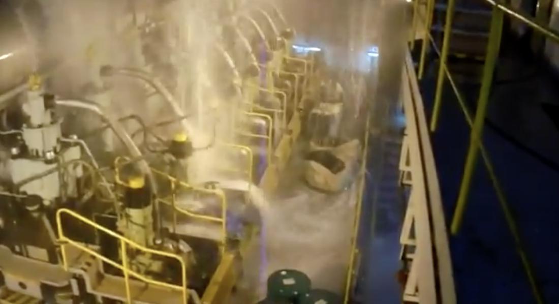Scrubber Malfunction Floods Ship Engine