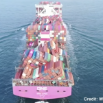 ONE Apus fallen shipping containers