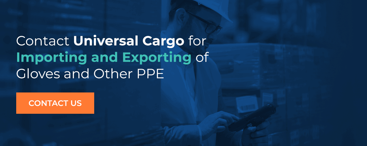 contact universal cargo for importing and exporting of ppe